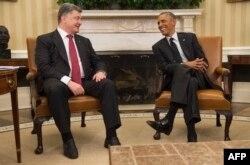 Петр Порошенко с Бараком Обамой в Белом доме. 18 сентября