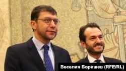Йонко Грозев и Робърт Спано по време на официално посещение в София на 6 декември миналата година по покана на председателя на Върховния касационен съд Лозан Панов