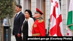 Официальная церемония встречи президента Венгрии в Тбилиси