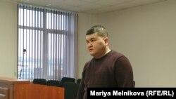 Блогер Айболат Букенов в зале суда. Уральск, 4 февраля 2020 года.