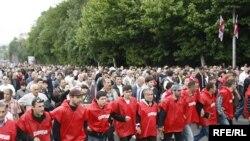 Un marş de protest al opoziţiei la Tbilisi