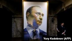 Портрет президента России на выставке «СУПЕРПУТИН» в Москве, 6 декабря 2017 года