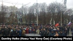 Ukraine - pro-russian rally in Kharkiv, 13Apr2014