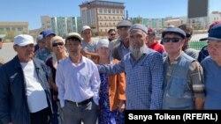 Қытаймен бірлескен жобаларға қарсылық танытып тұрған Жаңаөзен тұрғындары. Маңғыстау облысы, 9 қыркүйек 2019 жыл.