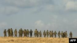 سربازان اسرائیلی در نزدیکی مرز اسرائیل-غزه