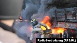 Киев үзәгендә 18 февральдәге бәрелешләр