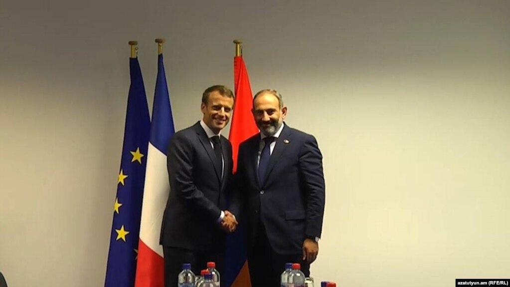 Макрон и Пашинян обсудили также карабахскую проблему