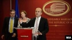 Министерот за финансии Драган Тевдовски ги презентира заклучоците од средбата со високи претставници од Светска банка