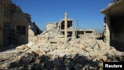 Սիրիա - Ռմբակոծության հետևանքները Իդլիբից հյուսիս գտնվող Քաֆր Ջալես գյուղում, նոյեմբեր, 2016թ․