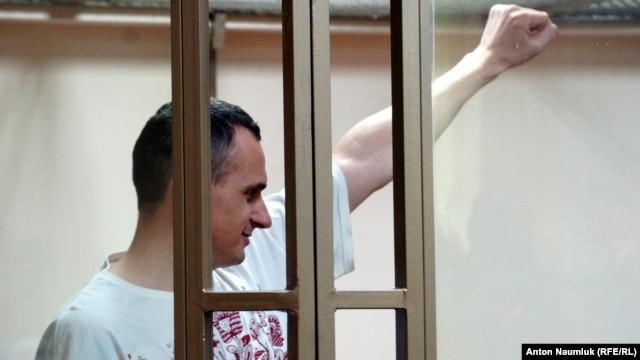 Олег Сенцов на суді, фото 25 серпня 2015 року