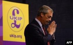 Глава партии UKIP Найджел Фарадж. Июнь 2014 года