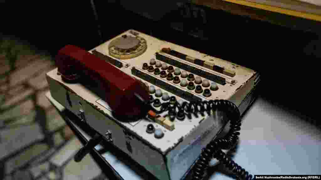 The phone used for communication between staff in the control room and the senior engineer