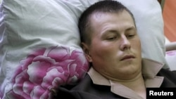 Ukrainanyň gündogarynda tussag edilen rus harbysydygy çaklanylýan Aleksandr Aleksandrow.