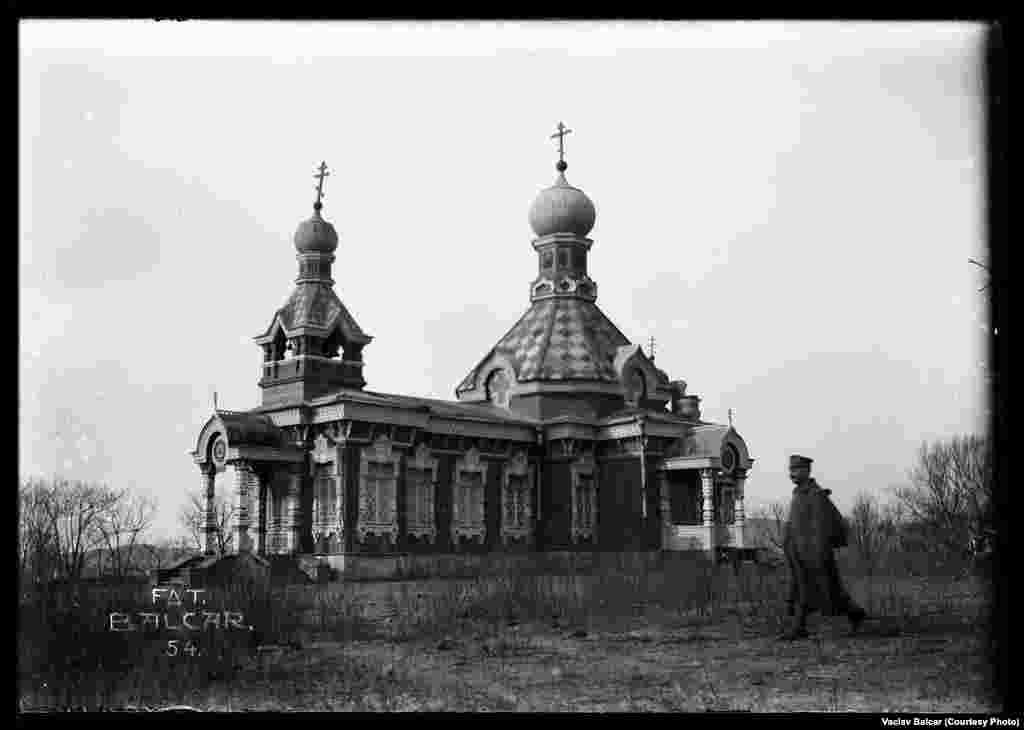 A Russian Orthodox church on Pospolov Island, Russia