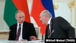Уладзімір Пуцін і Аляксандар Лукашэнка, 2017 год