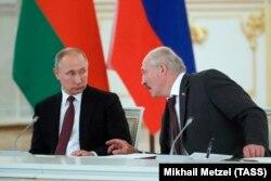Уладзімір Пуцін і Алякандар Лукашэнка