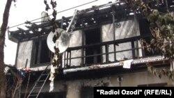 Пожар в центре Душанбе, 8 августа 2011 года.