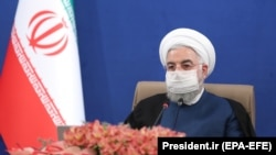Iranian President Hassan Rohani speaks during a cabinet meeting in the capital Tehran, July 29, 2020