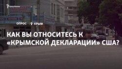 Опрос: как вы относитесь к «Крымской декларации» США? (видео)