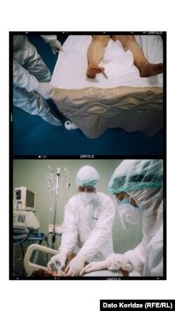 თეონა და გიორგი პაციენტებთან
