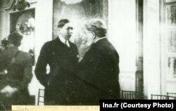 Profesorul Ion Cantacuzino și Nicolae Titulescu la Paris, 1920.