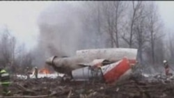 Crash Scene Of Polish President's Plane