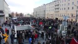 OZOD-VIDEO: Москвада Борис Немцов хотирасига митинг ўтказилди