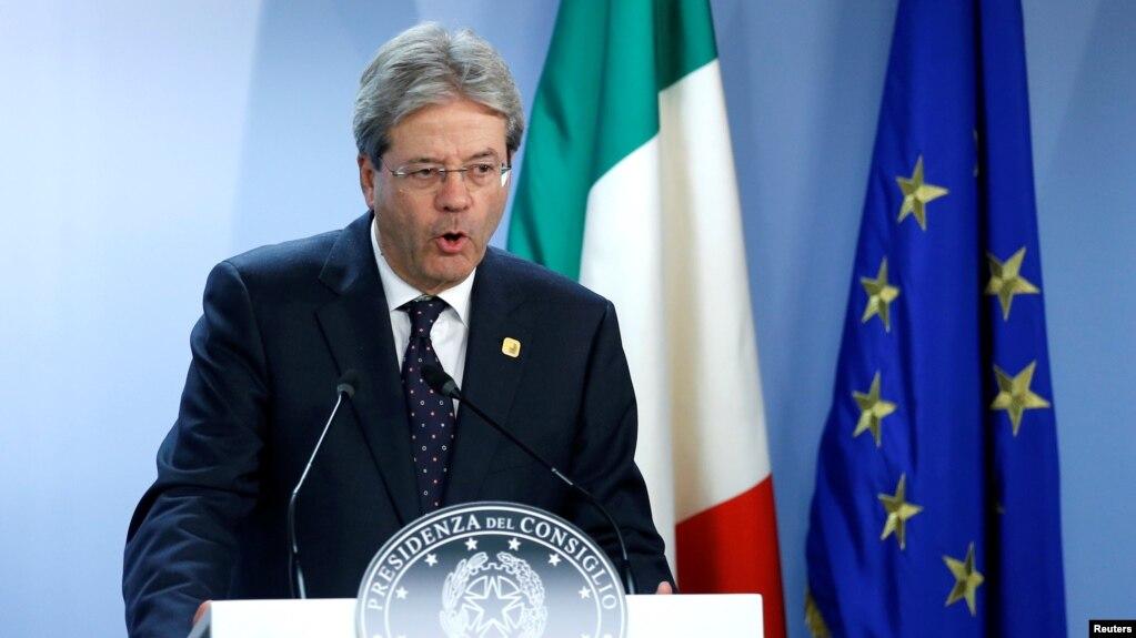 Italian Prime Minister Paolo Gentiloni (file photo)
