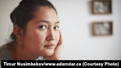 Kazakh activist Asiya Tulesova (file photo)
