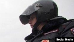 Полицейский в Москве.