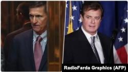 Майкл Флинн, бывший консультант предвыборного штаба Дональда Трампа, и Пол Манафорт (справа), руководивший штабом Трампа.