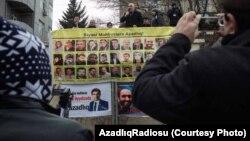 Ադրբեջան - Քաղբանտարկյալների ազատ արձակելու պահանջով բողոքի ցույց Բաքվում, արխիվ