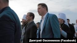 Губернатор Севастополя Дмитрий Овсянников и премьер-министр России Дмитрий Медведев, 28 июля 2018 года