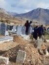 مراسم تدفین شماری از کشتهشدگان اعتراضهای اخیر در مریوان