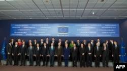 Саммитке жиналған ЕО елдерінің басшылары. Брюссель, 14 наурыз 2013 жыл.