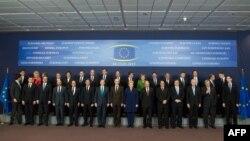 Belgjikë - Liderët e BE-së gjatë Samitit të BE-së më 14Mars2013