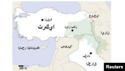Заштрихованы районы расселения курдов на территории Турции и соседних стран