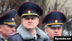 Міністар унутраных справаў Ігар Шуневіч (у цэнтры)