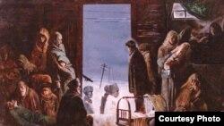 """Султан Юшаев, еще один вариант картины """"С родной земли"""""""