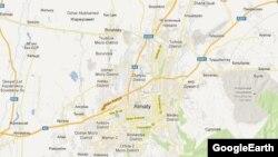 Алматы қаласы мен төңірегінің картасы. (Көрнекі сурет)