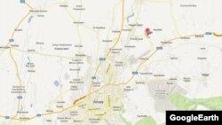 Алматы түбіндегі Қызылту ауылының Google картасындағы орны.
