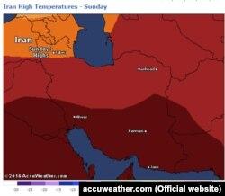 دمای هوای روز یکشنبه ایران