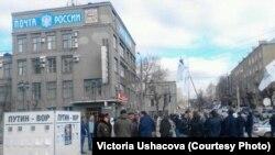 На улицах Кирова во время суда над Навальным, 24 апреля 2013