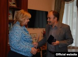 Ольга Тимошенко и Александр Сопов, 21 октября. Киев