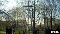 Баранавіцкая талака ля крыжа ў памяць ахвяраў сталінскіх рэпрэсіяў