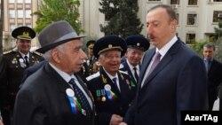 İlham Əliyev veteranlarla görüşür - 7 may 2015
