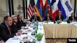 Austria - Azerbaijan's, Armenia's Presidents and OSCE Minsk Group Foreign Ministers meet over Nagorno-Karabakh, Vienna, May 16, 2016