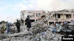 Место взрыва в Могадишу, Сомали, октябрь 2017 года (архивное фото)