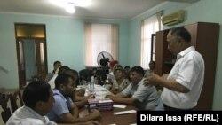 Участники встречи в поддержку Серикжана Билаша. Шымкент, 10 августа 2019 года.