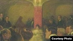 """""""Московский концерт Ванды Ландовской"""", пастель Леонида Пастернака, 1907"""